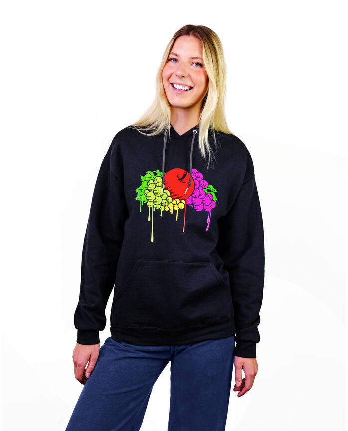 Limited Edition Art of Fruit Drip Print Logo Hoodie, 1 Pack