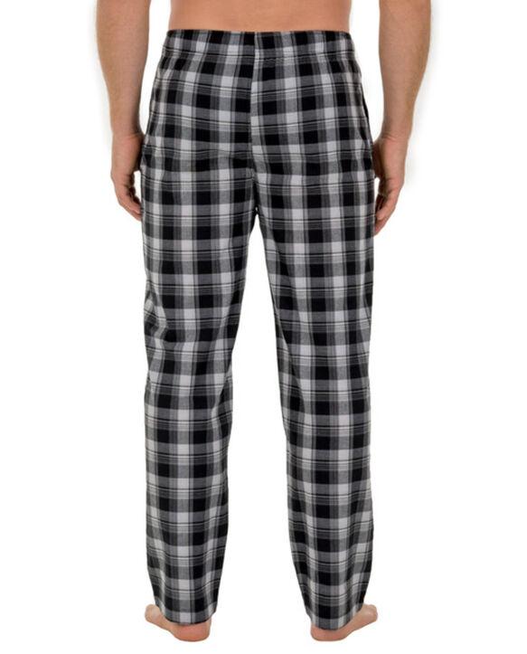 Men's Woven Plaid Pant, 1 Pack EBONY