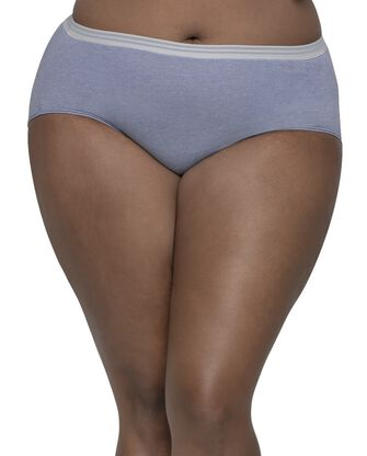 Women's Plus Fit for Me Heather Brief Panty, 6 Pack
