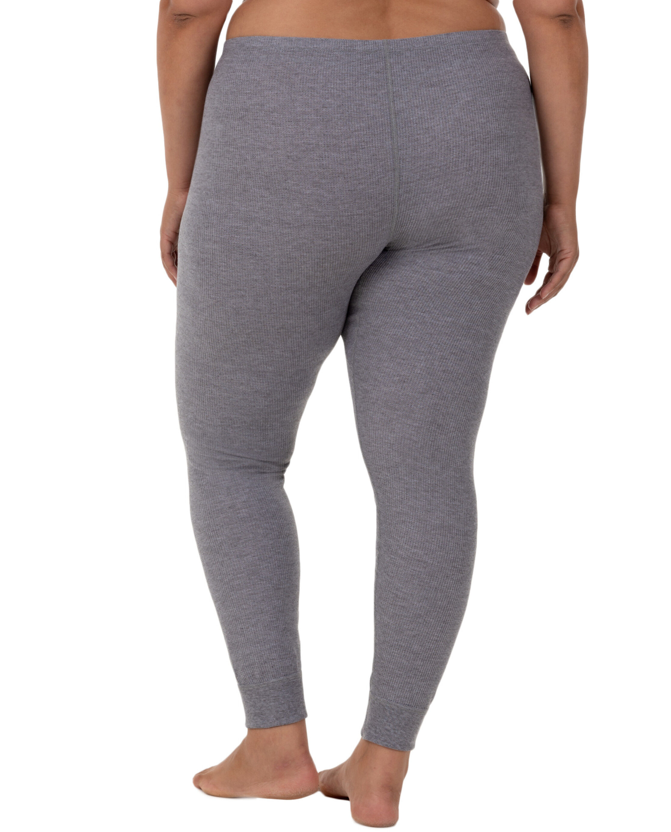 Fruit of the Loom Womens Plus Size Fit for Me Waffle Thermal Bottom