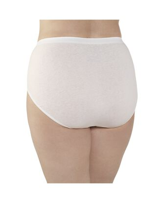 Women's  Fit for Me®  Cotton White Brief, 3 Pack