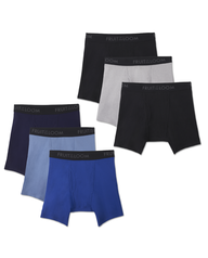 Men's 3 Pack Breathable Assorted Color Boxer Brief