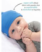 Baby Boys' Grow & Fit Hats, 2 Pack Blue Multi