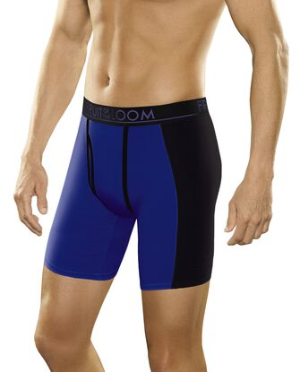 Men's Breathable with Ultra Flex Long Leg Boxer Briefs, 3 Pack