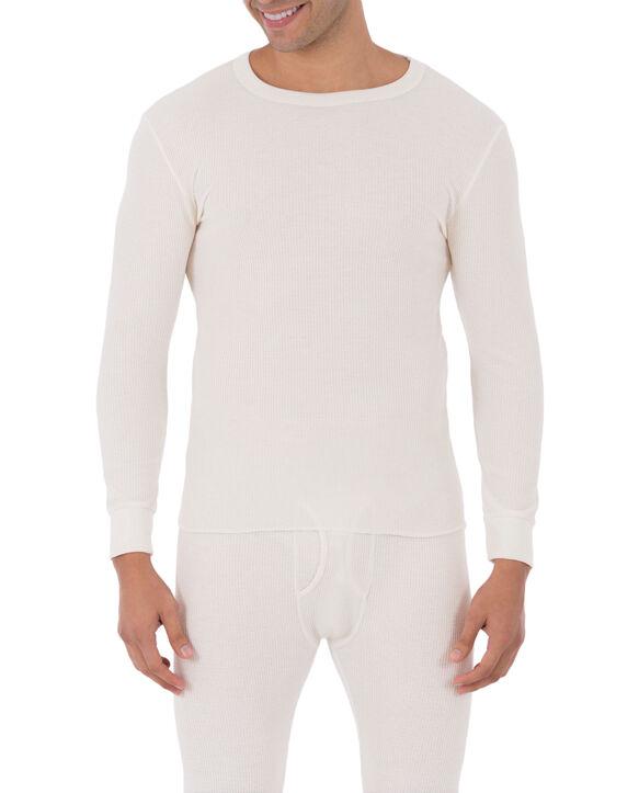 Men's Classic Thermal Underwear Crew Top Natural