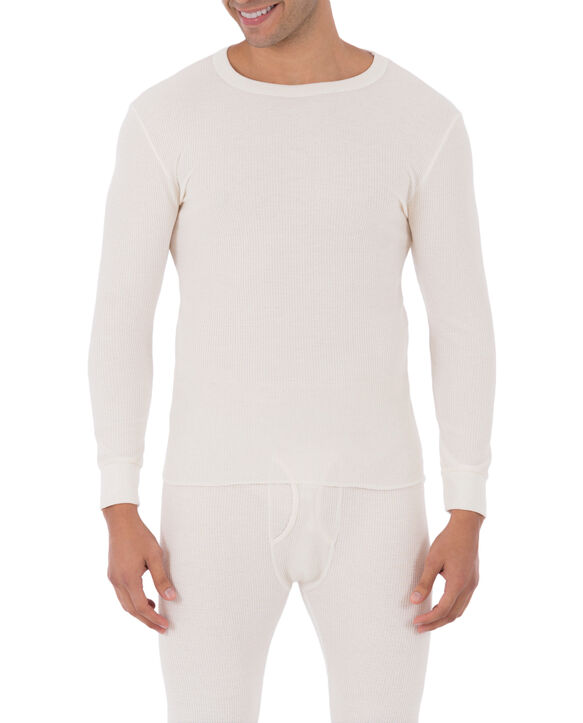 Men's Classic Thermal Underwear Crew Top Natural