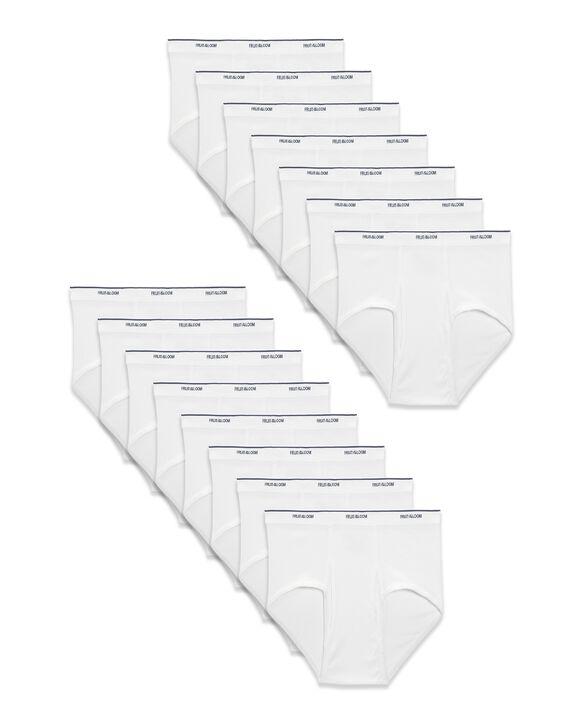 Fruit of the Loom® Men's Cotton White Briefs, 15 Pack White