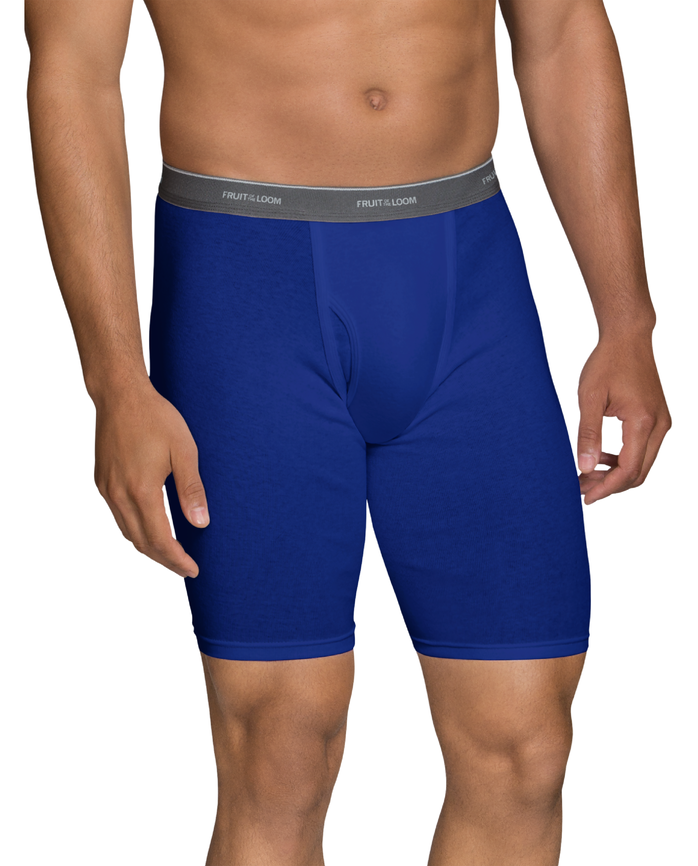 Men's Dual Defense® Assorted Long Leg Boxer Briefs, 5 Pack Assorted