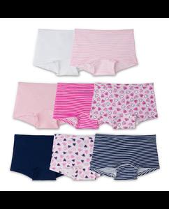 Girls' 8 Pack Assorted Color Boy Short
