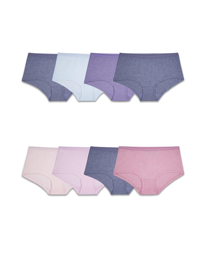 Women's Assorted Beyondsoft Boy Short Panty, 8 Pack ASSORTED