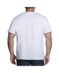 Big Men's Short Sleeve White Crew T-Shirts, 3 Pack White