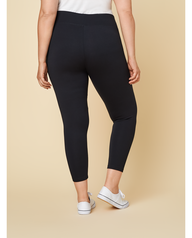 Women's Seek No Further Plus Size Wide Waistband Ponte Stretch Leggings Brilliant Black
