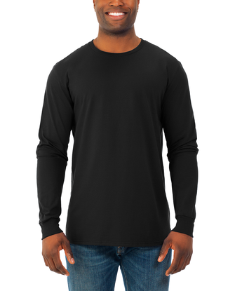Soft Long Sleeve Crew Neck T-Shirt, 2 Pack