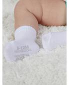 Baby Breathable Socks, 6 Pack White