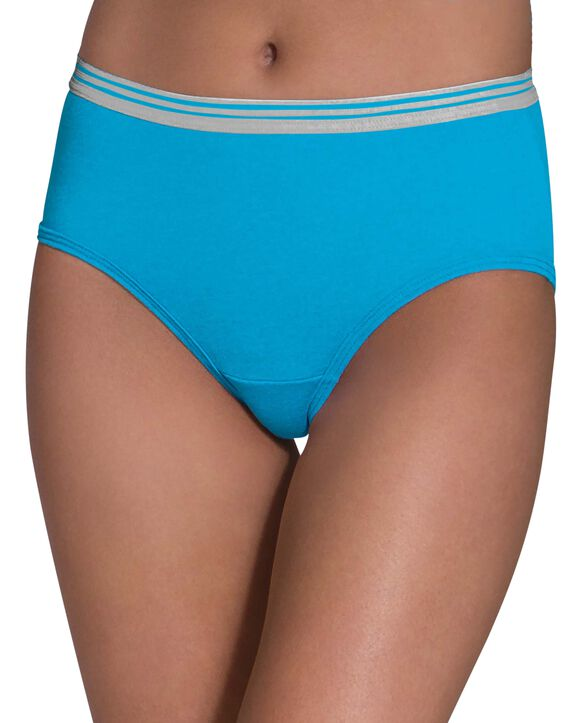 Women's Heather Low Rise Brief Panty, 6 Pack ASSORTED