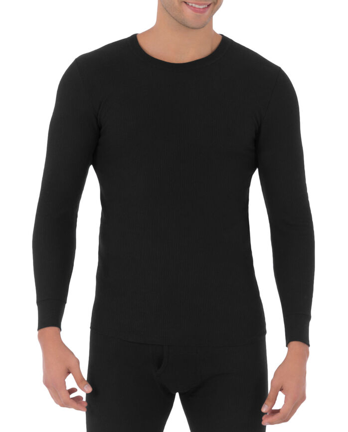 Men's Waffle Thermal Crew Top