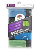 Boys' Stripe/Solid Knit Boxers, 5 Pack ASSORTED