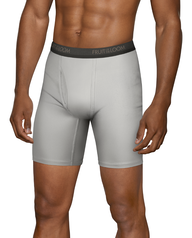 Men's Micro-Stretch Black/Gray Long Leg Boxer Briefs, 4 Pack, Size 2XL ASSORTED