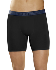 Men's Low Rise Black and Heather Gray Boxer Brief, 2 Pack Black Grey