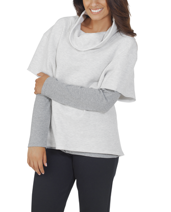 Women's Essentials Cowl Neck Pullover, 1 Pack