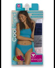 Women's CoolBlend Hi-Cut, 4 Pack Assorted