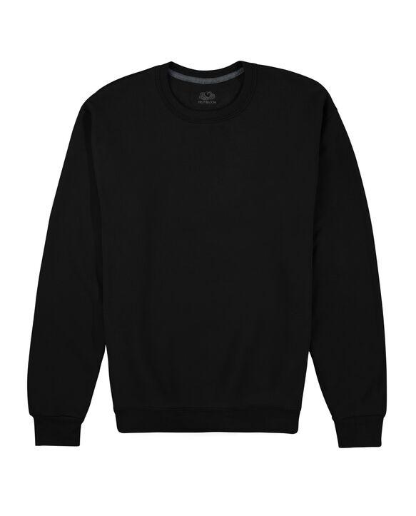 EverSoft Fleece Crew Sweatshirt, Extended Sizes, 1 Pack Black