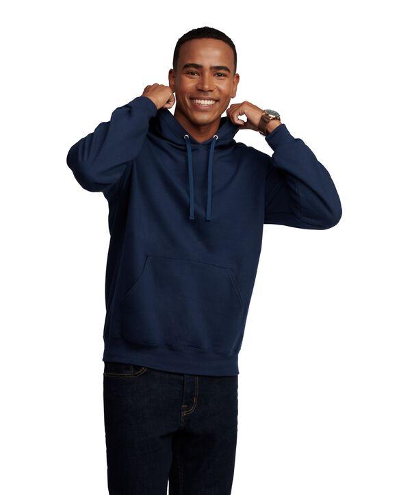 EverSoft Fleece Pullover Hoodie Sweatshirt, Extended Sizes, 1 Pack Navy