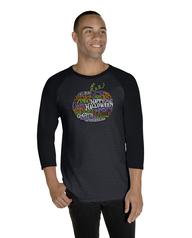 Halloween Pumpkin Word Cloud ¾ Sleeve Shirt