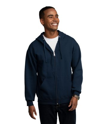 EverSoft Fleece Full Zip Hoodie Jacket, Extended Sizes, 1 Pack