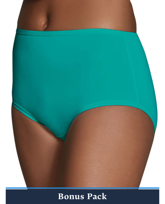 Women's Assorted Microfiber Brief Panty, 8 Pack