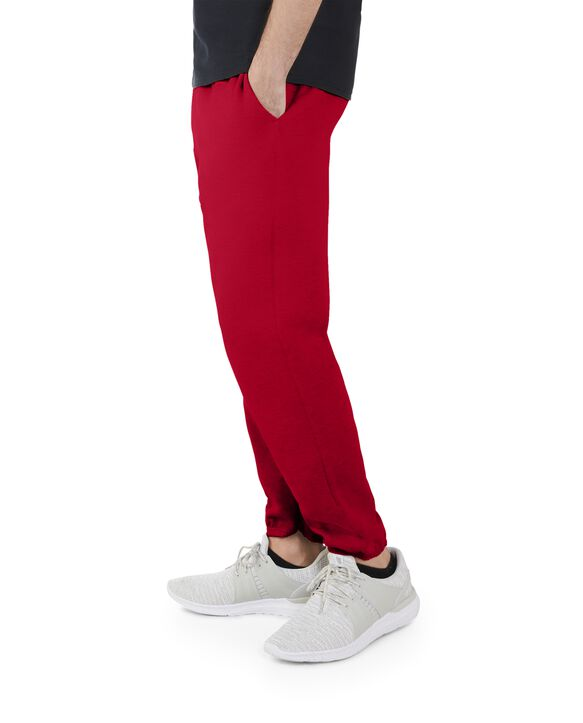 Men's EverSoft Fleece Elastic Bottom Sweatpants, 1 Pack True Red