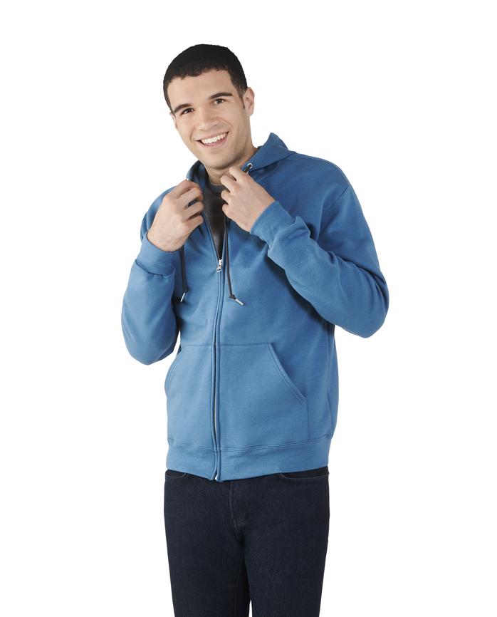 Big Men's EverSoft Fleece Full Zip Hoodie Jacket, 1 Pack Blue Ashes