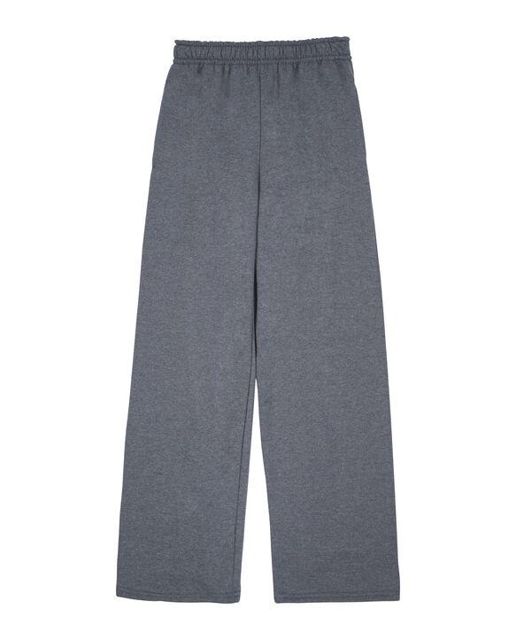 Boys' Fleece Open Bottom Sweatpants, 1 Pack Charcoal Heather