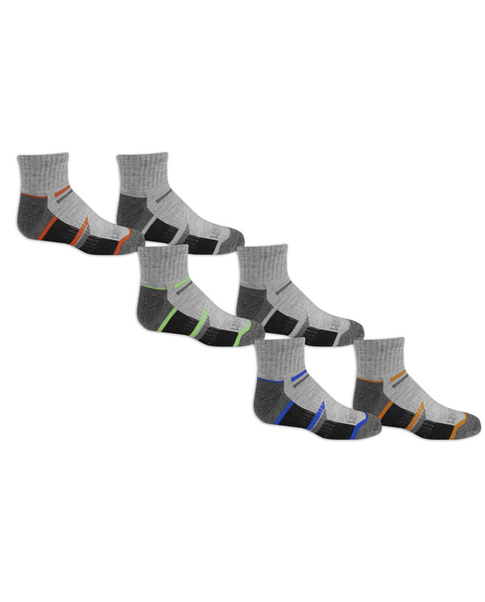Boys' Everyday Active Ankle Socks 6 Pair