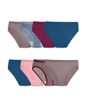 Women's Assorted Microfiber Bikini Panty, 8 Pack