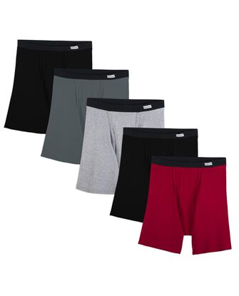 Men's Covered Waistband Boxer Briefs, 5 Pack