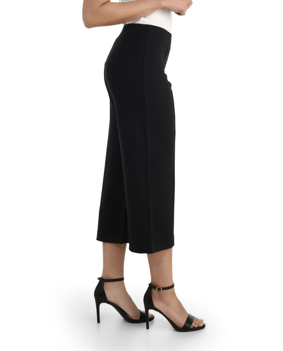 Women's Seek No Further Wide Leg Ponte Cropped Pants Brilliant Black