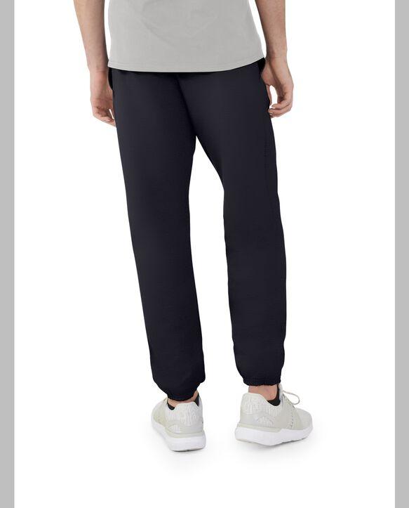 Men's EverSoft Fleece Elastic Bottom Sweatpants, 1 Pack Rich Black