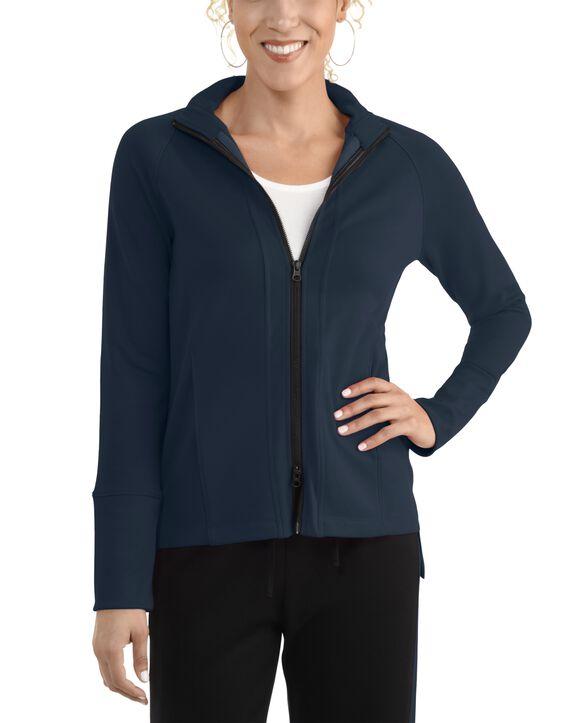 Women's Seek No Further Long Sleeve Full Zip Raglan Track Jacket Navy Nights