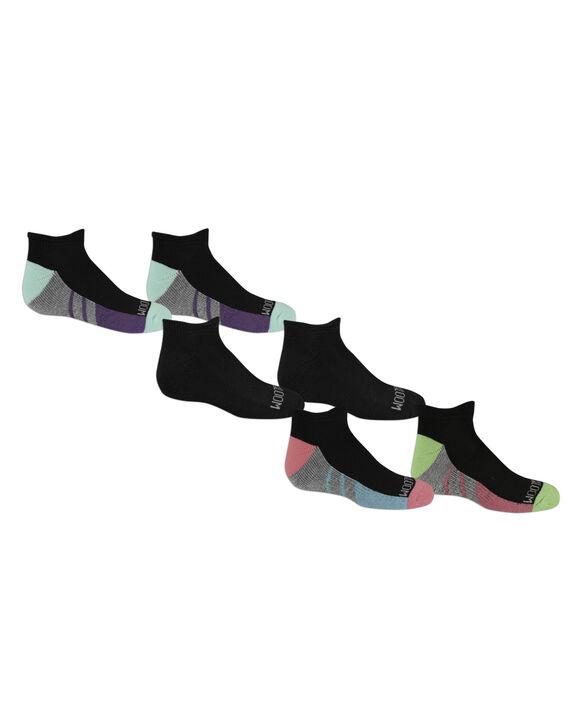 Girls' Low Cut Socks Pair, 6 Pack, Size 10.5-4 BLACK