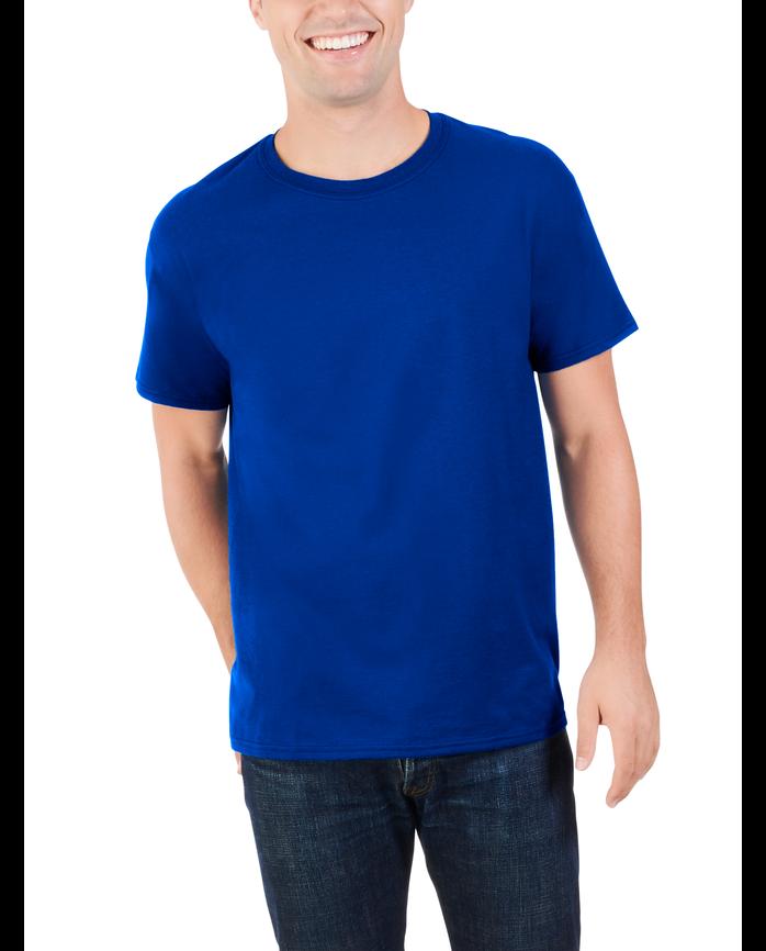 Men's Dual Defense® Crew Neck T-Shirt, 1 Pack Cobalt