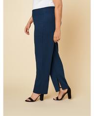 Women's Seek No Further Plus Size Trouser Dress Pants Navy Nights
