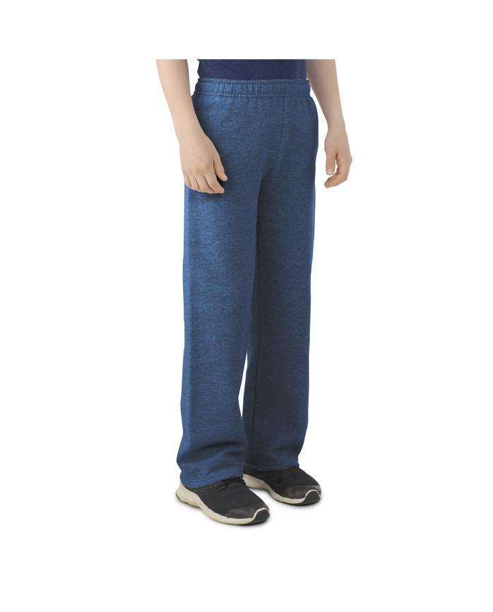 Boys' Fleece Open Bottom Sweatpants, 1 Pack Smoke Blue