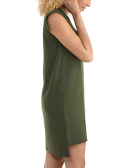Women's Seek No Further Pleated Ponte Shift Dress Military Green