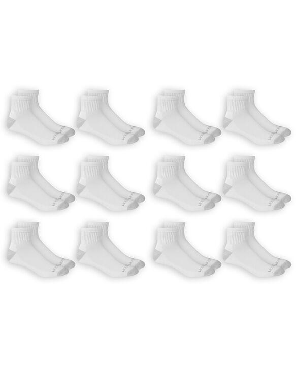 Men's Dual Defense Ankle Socks , 12 Pack, Size 6-12 WHITE/GREY