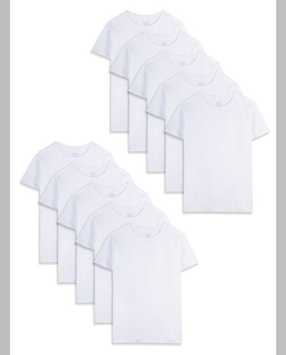 White Crew T-Shirts, 10 Pack