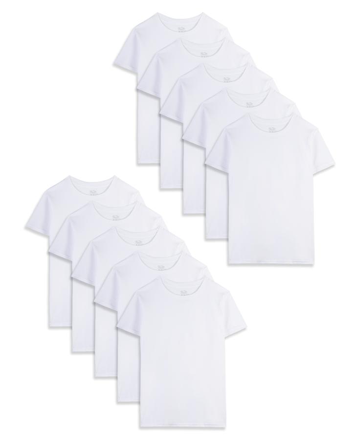 FOTL Childrens T Shirt Casual Kids Comfort Tee New Plain Summer Crew Neck Top