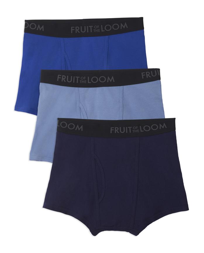 Men's Breathable Cotton Micro-Mesh Short Leg Boxer Brief, 3 Pack
