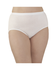 Fit for Me by Fruit of the Loom Women's Cotton White Briefs, 5 Pack White