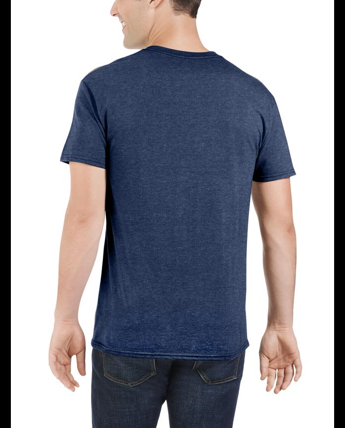 Big Men's Dual Defense UPF Short Sleeve Pocket T-Shirt Indigo Ink Heather